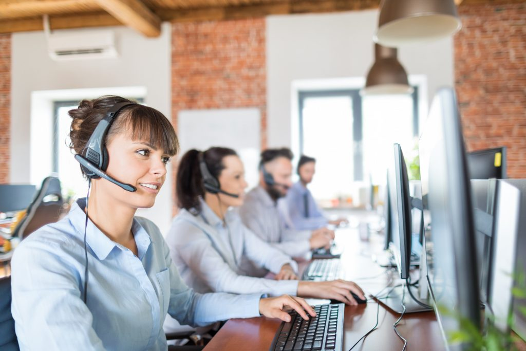 Call centre telephone system
