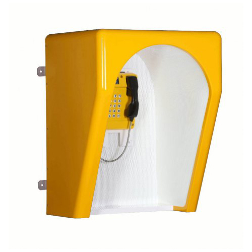 Orchid Telecom Acoustic Hood - Storacell T5000 Marine Yellow Angle With Shelf Commander
